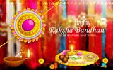 Decorated puja thali with rakhi for Raksha Bandhan