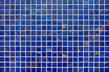Modern blue tile mosaic background texture.