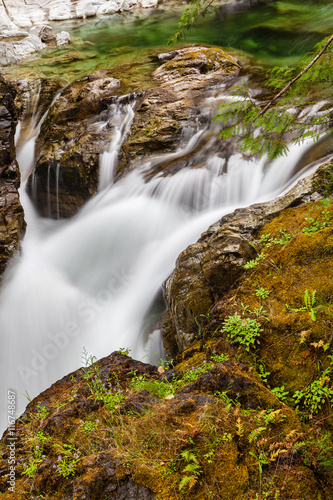 Little Qualicum Falls on Vancouver Island, British Columbia, Can