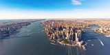 Aerial view of lower Manhattan New York City - 116749855