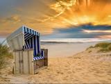 Strandkorb Nordsee Sonnenuntergang