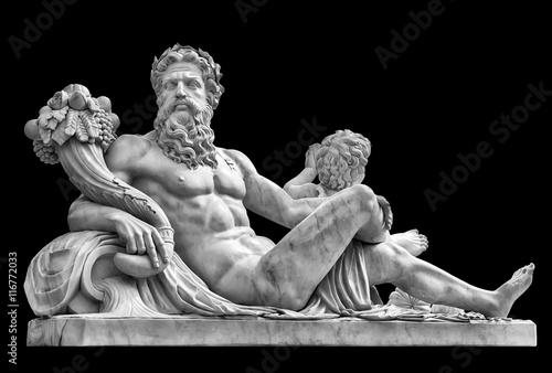marmurowa-statua,-grecki-bog-z-cornucopia-w-jego-rekach