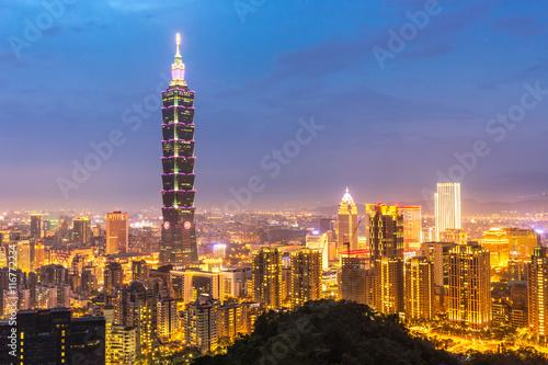Taipei, Taiwan skylines Poster