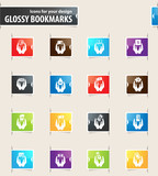 Hand and Money Bookmark Icons