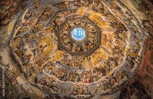 Foto op Canvas Florence The Cupola of Duomo of Florence, Tuscany, Italy