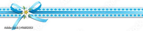 Oktoberfest - Schleifenband mit Rautenmuster und Edelweiß - 116812053