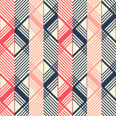 Seamless geometric pattern in pleasant retro color palette