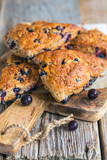 English homemade scones with blackberry.