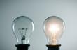 lidea concept with light bulbs