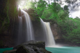 Amazing beautiful waterfalls in tropical forest