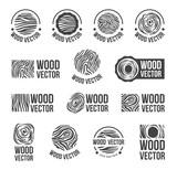 Fototapety Wood texture logo icon set