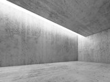 Fototapety Concrete room with white lighting, 3 d