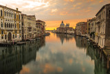 Reflection of Venice city with sunrise view