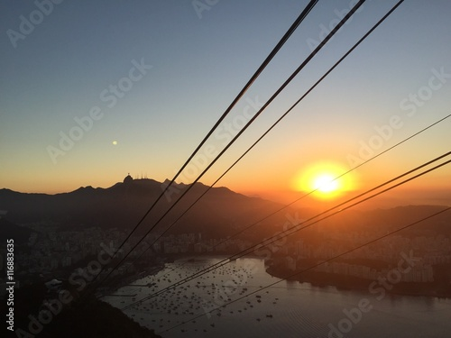 Poster Sunset over Rio