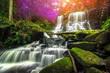 beautiful waterfall in green forest in jungle at phu tub berk mo