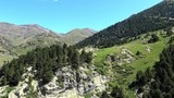 High mountains, Vall de Nuria, valley in the mountain Pyrenees of Spain