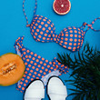 Swimsuit  polka dot.фтв beach mix. Vintage Summer.