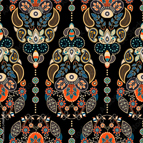 Paisley colorful seamless pattern - 116896652