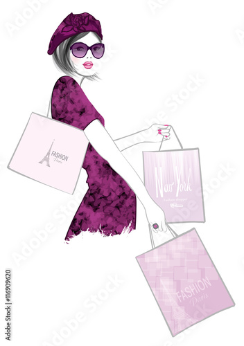 Pretty Woman shopping in Paris