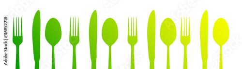 Naklejka posate, icone, cucina, cucinare, gastronomia