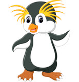 Happy cartoon penguin rockhopper