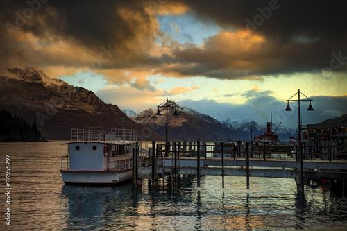beautiful scenic of lake wakatipu queenstown south island new ze