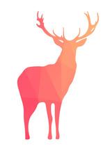 Deer sylwetka kształtów geometrycznych