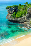 Beautiful white sandy beach in Bali