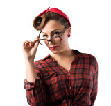 Eyeglasses pin-up style