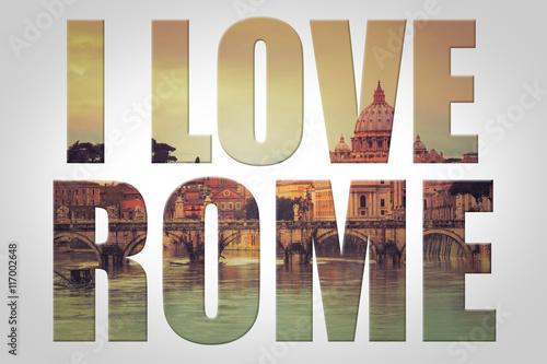Fototapeta I love Rome - Vatican - Italie