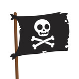 Pirate flag illustration