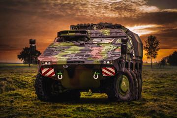 Militärischer Transportpanzer