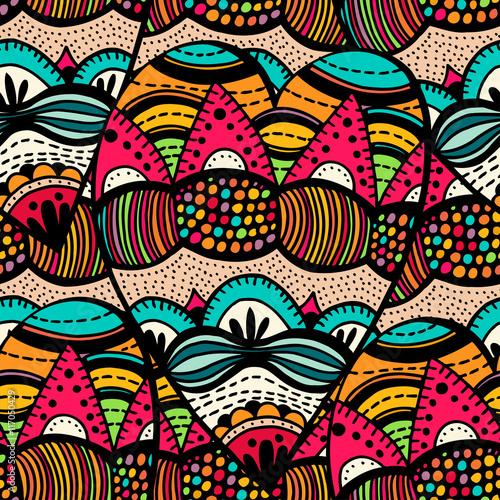 Materiał do szycia Oryginalny rysunek spirala tribal dodle