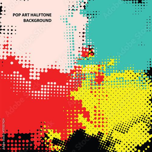 pop art halftone