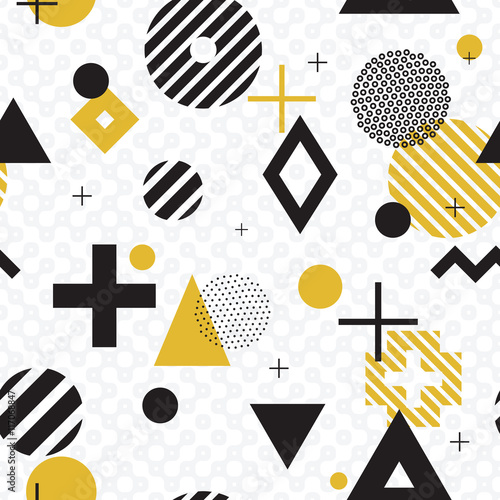 Plakat seamless abstract geometric pattern