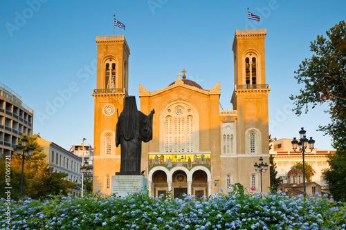 Zdjęcia na płótnie, fototapety, obrazy : View of the Metropolitan Cathedral of Athens.