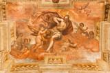 BRESCIA, ITALY - MAY 23, 2016: The fresco of Resurrected Christ Jesus give his blood in church Chiesa di San Faustino e Giovita by Tommaso Sandrino (1580 - 1630).