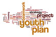 Youth Planword cloud concept