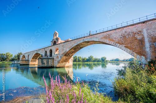 Avignon old bridge in Provence, France Poster