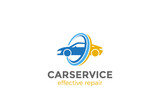Car Logo abstract design vector. Vehicle repair service icon