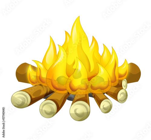 Cartoon scene of fire - isolated - illustration for children - 117140440
