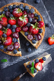 cheesecake with fresh summer berries