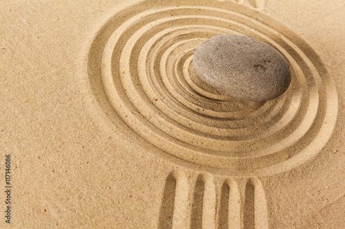 Foto op Canvas Zen zen garden meditation stone background