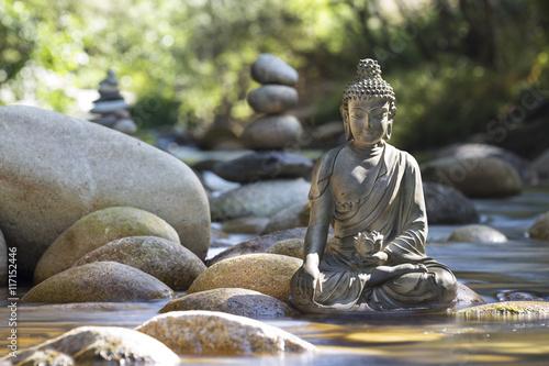 Plakát, Obraz Statue de Bouddha