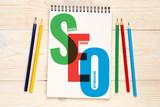 SEO, search engine optimization concept