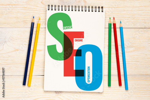 Poster SEO, search engine optimization concept
