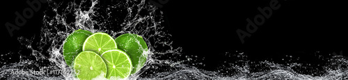 Lime and water splash - 117169252