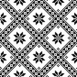 Seamless Ukrainian or Belarussian folk art embroidery black pattern  - 117174215