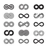 Infinity symbol, vector set. Isolated on white background. EPS 10 - 117180207