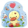 Cute Cartoon Duckling